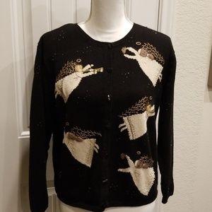 EUC Talbots Christmas Angel Sweater